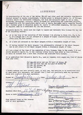 1964 James Alan Jim Marshall SIGNED equipment contract 1964-69 Minor Leaguer