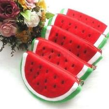 Cute Women Lady Girl Watermelon Portable Zipper Coin Purse Wallet Case Plush Bag
