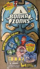 BONKAZONKS SERIES 1 MARVEL Captain America Face Case 4 pack action figures New