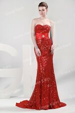Gorgeous Long Strapless Evening Formal Ball Gown Bridesmaid Prom Wedding Dresses