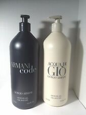 Giorgio Armani Acqua Di Gio Shower Gel + Armani Code Shower Gel 33.8 oz 1 L