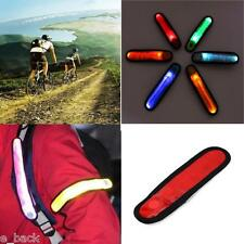 LED Safety Reflective Belt Strap Arm Band Outdoor Sports Night Cycling Red