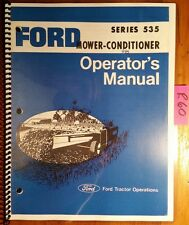 Ford Series 535 Mower-Conditioner Owner's Operator's Manual SE3215-C 2704