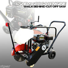 "6.5HP 196CC 14"" CONCRETE CUT OFF SAW  GAS ENGINE WALK BEHIND W/ BLADE & TANK"