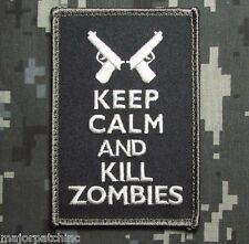 KEEP CALM AND & KILL ZOMBIES US USA SWAT VELCRO® BRAND FASTENER MORALE PATCH