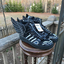 NEW US size 8.5 Adidas Originals Jeremy Scott Black Wings 2.0 Mesh Shoes S77802