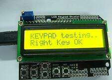 Yellow Backlight 1602 LCD Board Keypad Shield For Arduino LCD Robot