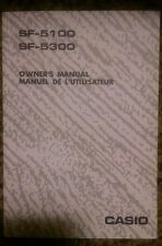 Casio SF-5100 & SF-5300 owners manual