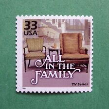 AMERICAN SITCOM, ALL IN THE FAMILY ON A REAL POSTAGE STAMP