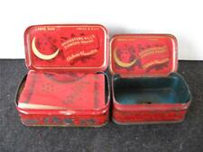 VINTAGE 2 SIZES 1907 DIAMOND BRAND CHI-CHES-TERS PILLS TIN GREAT GRAPHICS