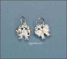 2 Sterling Silver Butterfly Bow Charms 8mm #51530