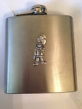 Clown PP-G10 english pewter 6oz Stainless Steel Hip Flask