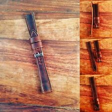 20mm Horween Leather Tapered  Watch Strap