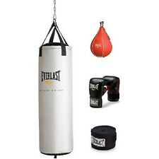 Everlast 70 lb Heavy Bag Kit w gloves & wraps boxing MMA punching training NEW