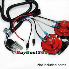 12V SUPER TONE HORN WIRING HARNESS KIT Controller RELAY FUSE GRILL MOUNT COMPACT