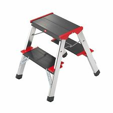 Double Sided Two Tread Step Ladder Stool | Folding Kitchen Steps Hailo L90 225