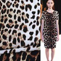 Sexy leopard pattern print 100% pure silk Crepe DE chine silk fabric,SCDC181