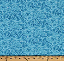 Cotton Blue Water Ripples Ocean Nature Cotton Fabric Print by Yard D470.21