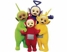 Teletubbies 48 Large Sticky White Paper Stickers Labels NEW