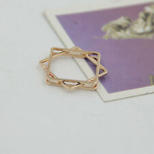 3Colors Brass Verlap Square Three-deck Band Ring JZ0242