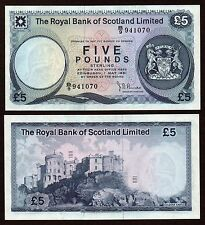 1981 £5  ROYAL BANK OF SCOTLAND LIMITED  signed Burke    UNCIRCULATED