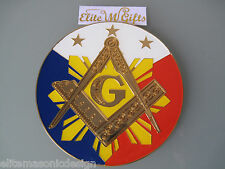 Masonic Master Mason  Freemason Cut out Car  Emblem Fhilippines