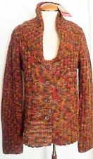 prAna Sweater Womens X Large NWT Charlotte Cardigan Terracotta Button Front