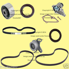 8pc_Timing Belt Kit w Water Pump_Tensioner Roller_Drive Belts_for Hyundai Accent