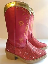 Disney Pixar Toy Story Jessie Red and Gold Sparkle Dress Up Cowgirl Boots 7/8