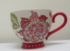 Kohls Tabletops Unlimited Maly 15 oz. Cappuccino Mug Red Floral Earthenware NWT