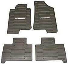 OEM GM 2006-2010 HUMMER H3 H3T Black All Weather Heavy Duty Floor Mats 12498903