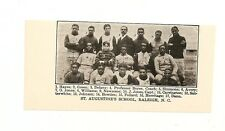 St. Augustine's School Raleigh NC Negro Leagues 1903 Football Team Picture RARE!