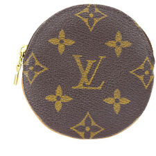 Auth Louis Vuitton Porte Monnaie Ron Coin Case Wallet Monogram M61926 09D442