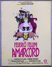 Plaquette AMARCORD Magali Noel FEDERICO FELLINI Bruno Zanin *c