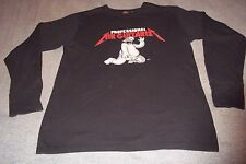 Homer Simpsons Professional Air Guitarist T-Shirt Mens XL Longsleeve
