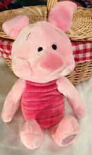 "Disney Store Piglet 14"" Winnie the Pooh Plush Doll Stuffed Authentic Genuine"