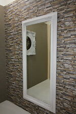 Barock Wandspiegel mit Holzrahmen Gold-Weiss 81x171 NEU!
