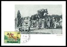 SAN MARINO MK 1966 REITEN REITSPORT PFERD PFERDE HORSE MAXIMUM CARD MC CM am34