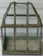 OLE ENGLISH STYLED RUSTIC WARDEN CASE TERRARIUM ~ Glass & Metal