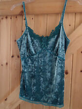 "Very Pretty Turquoise Blue Cami Top Size 10 Chest 34"" By Next Beaded & Sequined"