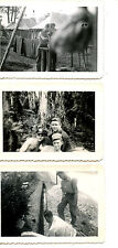 Military Men in Camp-Tents-Work-Friends-1957 Vintage Snapshot Photograph Lot-3