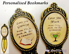 Personalised Name Bookmark Gift, Mum, Grandad, Dad ANYONE YOU CHOOSE Fathers Day
