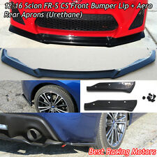 A-Style Front Lip + A-Style Rear Aprons (Urethane) Fits 12-16 Scion FR-S