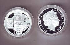 2001 Silver $5 Proof Coin Federation Kingston Barton Deakin ex Masterpieces in