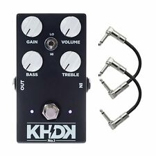 KHDK NO1 Version 1 Kirk Hammett Overdrive Guitar Effect Pedal & Patch Cables