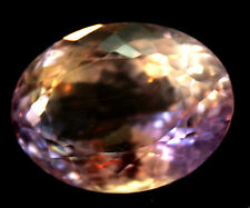 11.99 CT AAA! NATURAL! PURPLE & YELLOW BOLIVIA AMETRINE OVAL