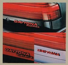Big 1987 Dodge DAYTONA Brochure / Catalog w/Color Chart:SHELBY Z,TURBO,PACIFICA