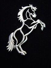 """""""JJ"""" Jonette Jewelry Silver Pewter 'Rearing HORSE' Pin"""