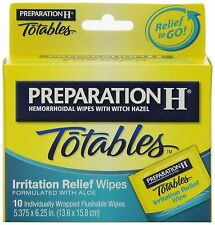 Preparation H Totables Flushable Wipes 10 ct