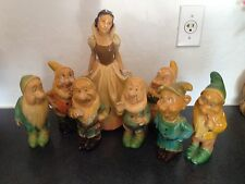 Leonardi Snow White and the Seven Dwarfs 1940's Vintage Walt Disney Figure Set